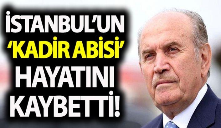 Eski İBB Başkanı Kadir Topbaş hayatını kaybetti! Topbaş'ın cenaze töreni ne zaman?