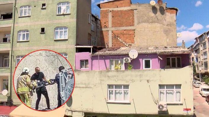 Sultangazi'de 91 yaşındaki adam çatıdan düştü