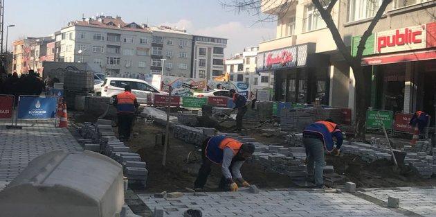 500 Evler Prestij Cadde Çalışmaları Hız Kesmiyor