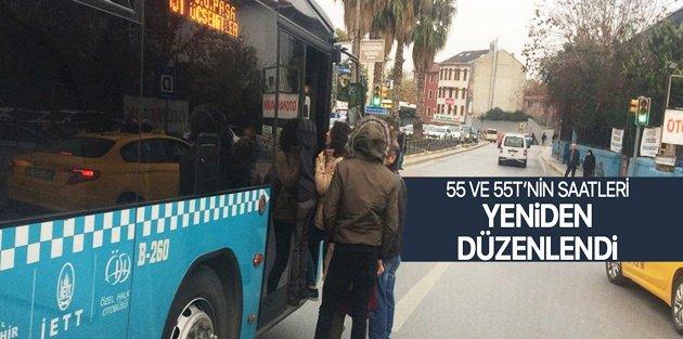 55,55T, İETT GOP – Taksim ve GOP-Şişli  saatleri güncellendi