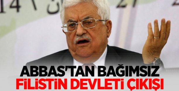 Abbas'tan Bağımsız Filistin devleti çıkışı