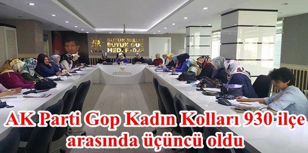 AK Parti Gaziosmanpaşa Kadın Kolları 930 ilçe arasında üçüncü oldu