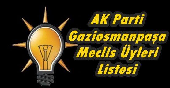 AK Parti Gaziosmanpaşa Meclis Üyleri Listesi