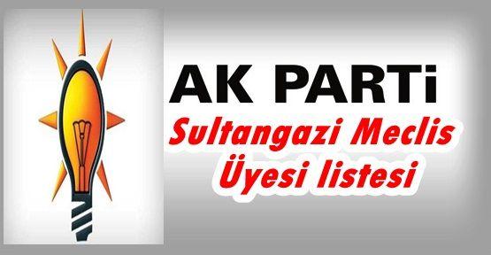Ak Parti Sultangazi Meclis Üyesi listesi