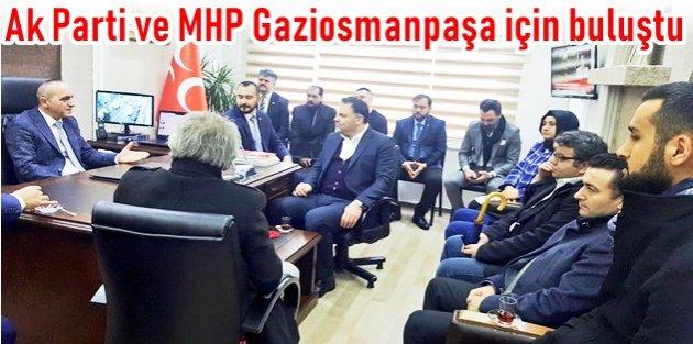 Ak Parti ve MHP Gaziosmanpaşa için bir araya geldi.