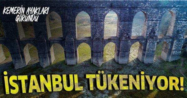 Alibeyköy Barajı alarm veriyor! Korkutan görüntü! 10 yıldır böylesi görülmemişti.