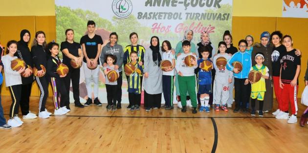 Anne-Çocuk Basketbol Turnuvası Heyecana Sahne Oldu