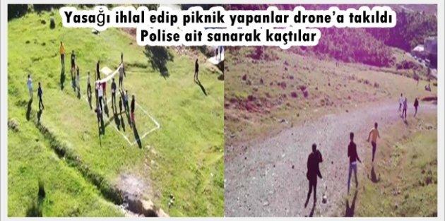 Arnavutköy'de drone'dan kaçanlar