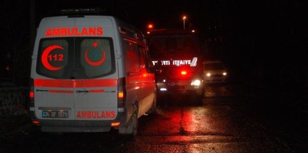 Arnavutköy'de İşçilerin Kaldığı Barakada Yangın : 1 Ölü 1 Yaralı