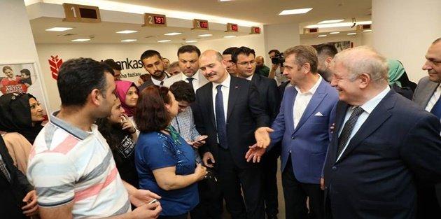 Bakan Soylu, Gaziosmanpaşa'da Erdoğan'ın seçim hesabına para yatırdı