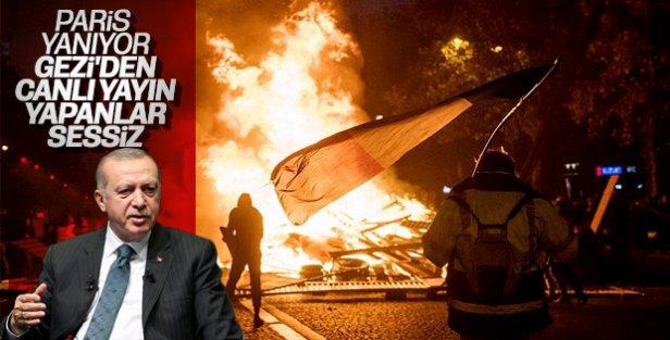 Başkan Erdoğan: Paris yanıyor dünya sessiz