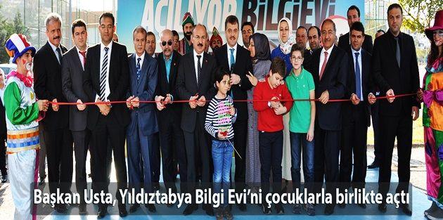 Başkan Usta, Yıldıztabya Bilgi Evini çocuklarla birlikte açtı