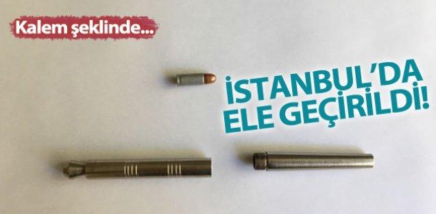 Bayrampaşa'da Kalem Şeklinde Suikast Silahı Ele Geçirildi