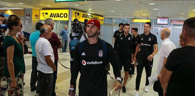 Beşiktaş kafilesi Sırbistan'a geldi