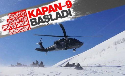 Bingöl'de, Kapan-9 Karer Operasyonu başladı