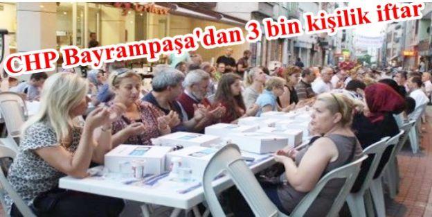CHP Bayrampaşadan 3 bin kişilik iftar