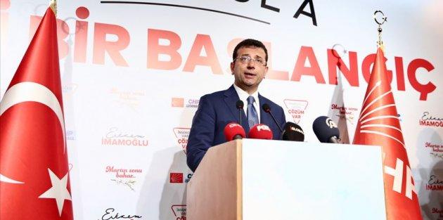CHP'nin İstanbul adayı İmamoğlu: Umuyorum en yakın zamanda kesin sonuç alınır