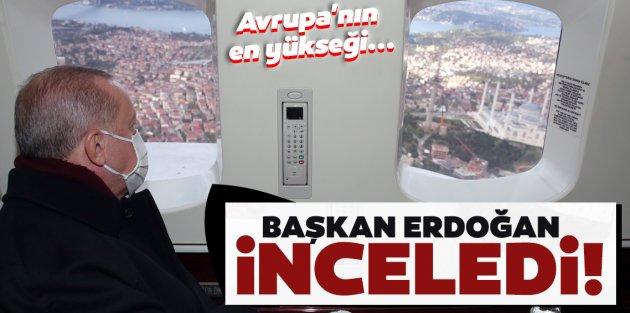 Cumhurbaşkanı Erdoğan, Çamlıca'daki kulelerin kaldırılma çalışmalarını inceledi