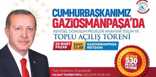 Cumhurbaşkanı Erdoğan Gaziosmanpaşada!