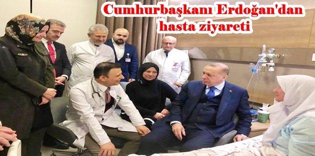 Cumhurbaşkanı Erdoğan Gaziosmanpaşa'da hasta ziyaretlerinde bulundu