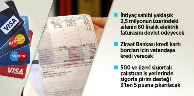 Cumhurbaşkanı Erdoğan: İhtiyaç sahibi ailelerin 80 liralık elektrik faturasını devlet karşılayacak