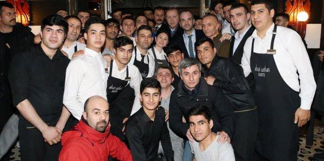 Cumhurbaşkanı Erdoğan İstanbul'da çorbacıya gitti