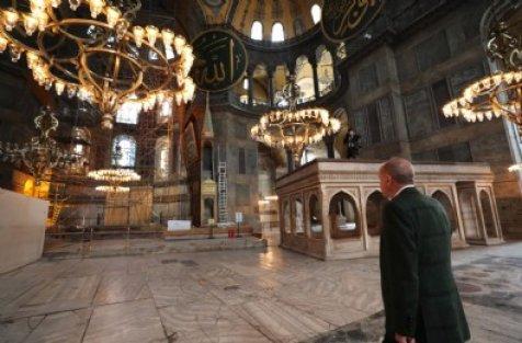 Cumhurbaşkanı Erdoğan'dan 'Ayasofya Camii' paylaşımı!