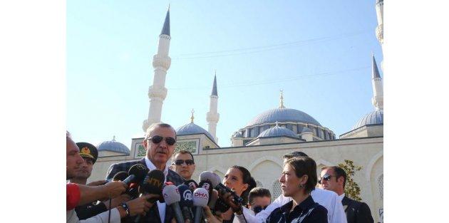 Cumhurbaşkanı Erdoğan'dan bayram namazı sonrasında açıklama