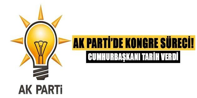 Cumhurbaşkanı tarih verdi! AK Parti'de kongre süreci