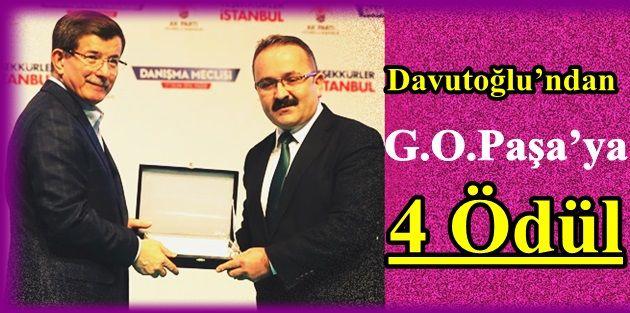 Davutoğlu'ndan Gaziosmanpaşa'ya 4 Ödül