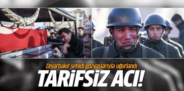 Diyarbakır şehidi gözyaşlarıyla uğurlandı