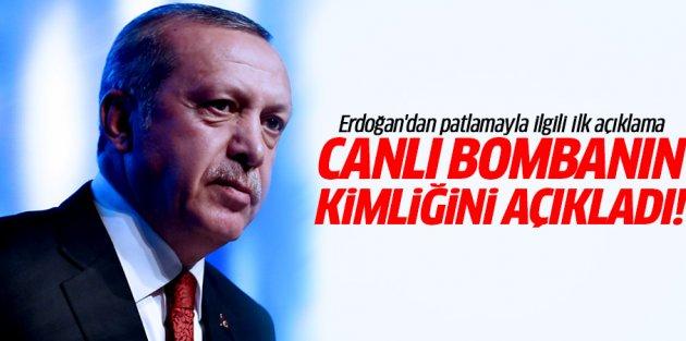 Erdoğan: Canlı bomba Suriye kökenli