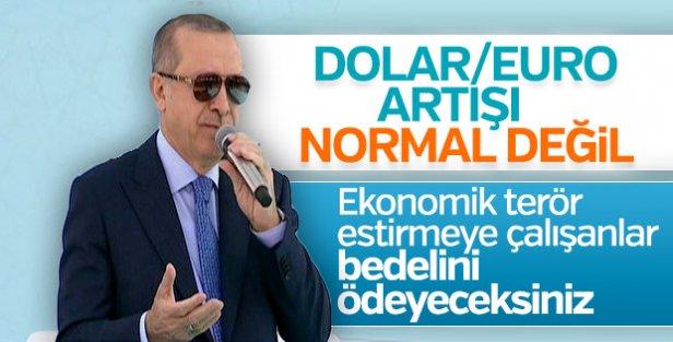 Erdoğan döviz kurlarının artmasıyla ilgili konuştu