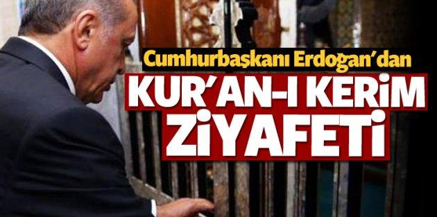 Erdoğan Nasrullah Camiinde Haşr Suresini okudu