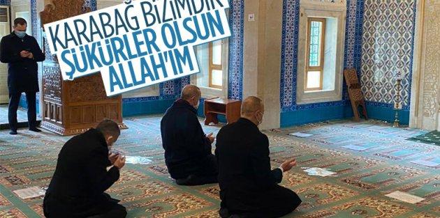 Erdoğan ve Aliyev'den şükür namazı