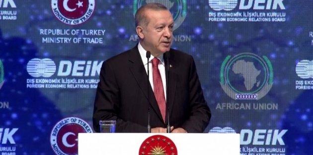Erdoğan'dan Afrika'ya milli para ile ticaret çağrısı