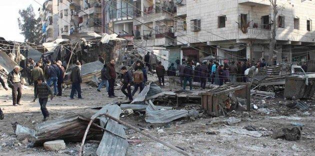 Esed yine sivilleri hadef aldı: 16 ölü