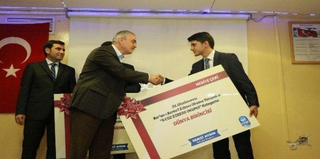 Eyüp Belediye Başkanı Remzi Aydın'dan Dünya birincisine ödül