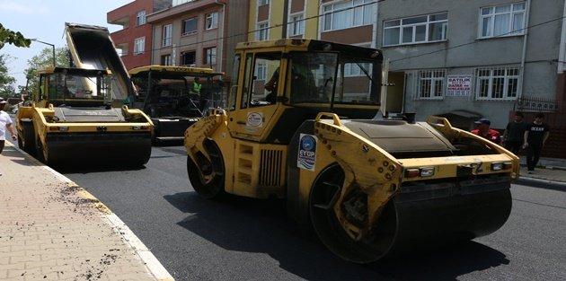 Eyüp'te asfaltlar yenileniyor
