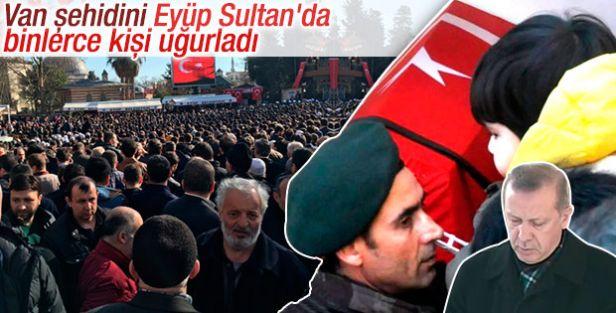 Eyüp'te Şehit polis için son görev! Cumhurbaşkanı da cenazede
