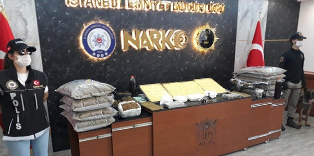 Fatih ve Gaziosmanpaşada kilolarca uyuşturucunun bulunduğu operasyonlar