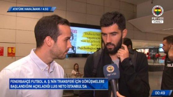 Fenerbahçe'nin yeni transfer Neto İstanbul'da