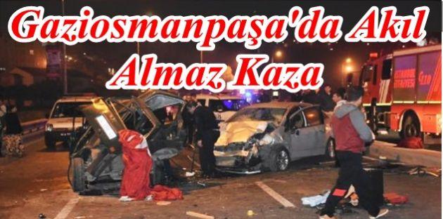 Gaziosamanpaşada Trafik Kazası: 4 Yaralı