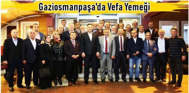 Gaziosmanapaşa'da Kurucu İlçe Başkanı Yavuz Subaşı ve Ekibine Vefa Yemeği!