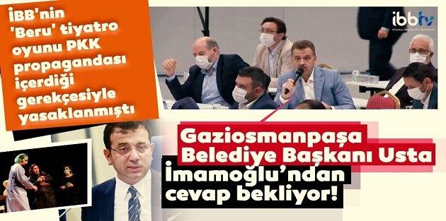 Gaziosmanpaşa Belediye Başkanı Usta, İmamoğlundan cevap bekliyor!