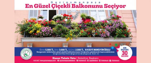 Gaziosmanpaşa Belediyesi en güzel balkona 5 bin TL veriyor...