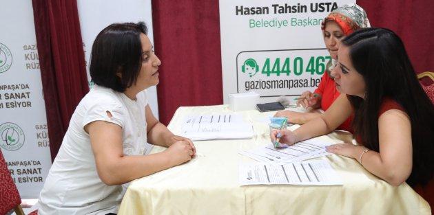 Gaziosmanpaşa Belediyesi İstihdam Seferberliğine Desteği Sürüyor