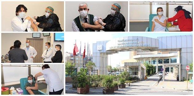 Gaziosmanpaşa Devlet Hastanesinde hareketli günler başladı! Artık aşılanıyor