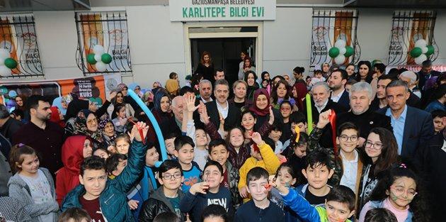 Gaziosmanpaşa Karlıtepe Mahallesi Bilgi Evi Hizmete Açıldı