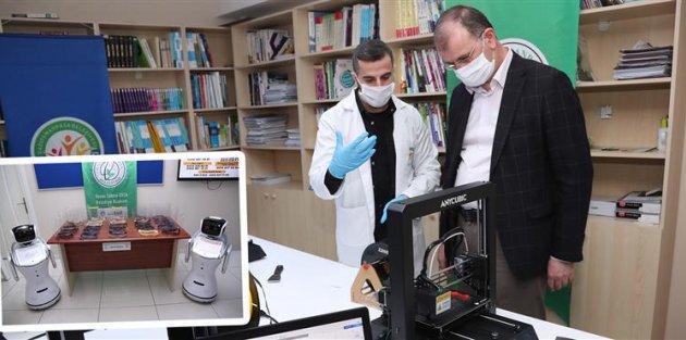 Gaziosmanpaşa'da,3D Yazıcılarla Günde 100 Adet Siper Maske Üretiyor!